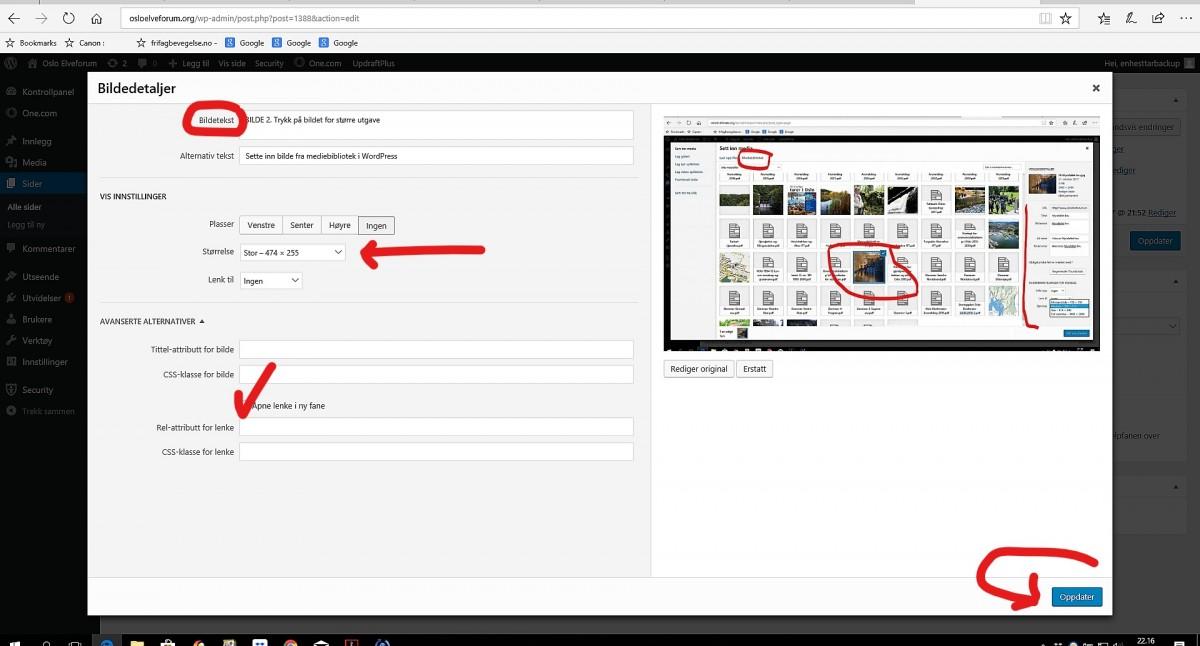 WordPress. Slik setter du inn et bilde